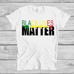 Black Lives Matter Dripping Tee Sz Sm